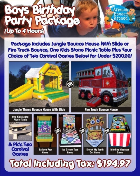 Boys Birthday Package Under $200