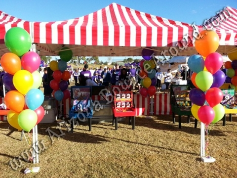 Our carnival tents are 10u0027 X 10u0027 with carnival side skirts and backdrop options. Add LED moving carnival lights to these carnival tents at night for the ... & Carnival Tent Rental - Rent Carnival Tents or Carnival Booths in ...