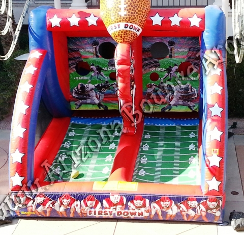 Rent A Football Toss Carnival Game For All You Die Hard Football Fans.  Everyone Wants Be A Quarterback So Step Up To This Inflatable Football  Throw Game And ...