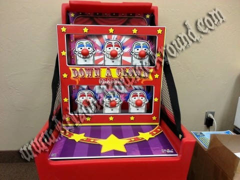 Down A Clown Carnival Game Rental
