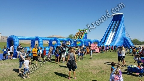 Dual Lane 42' Tall Water Slide Rental