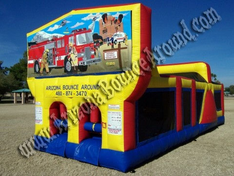 30' CYT Fire Truck Obstacle Course Rental