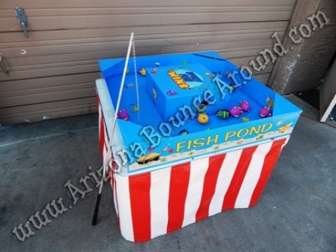 Cow milking game rental western party games for rent for Fish pond game