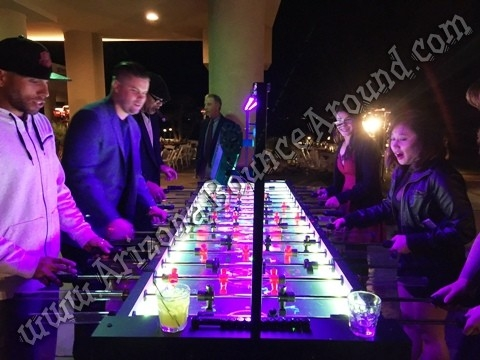Our Giant 16 Player LED Foosball Table is available with or without the LED lights and features an optional overhead LED bar for custom colors or Glow ... & Giant Foosball Table Rental - Rent Giant LED Foosball Games ...