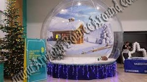 House Snow Globe Human Snow Globe Rental