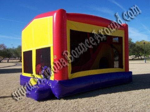 5&1 CYT Inflatable Bounce House with 14' Slide, Basketball hoop and Obstacle Course inside