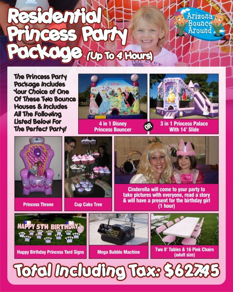 Princess Party Package under $650