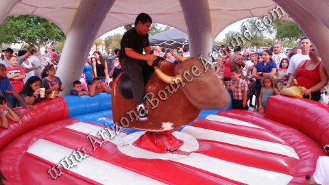 Mechanical Bull with Round American Ring