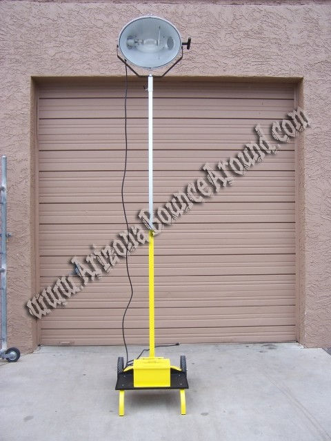 Construction lighting rental outdoor light rental phoenix these portable light towers can be plugged into a standard outlet making them perfect for areas needing light without noise aloadofball