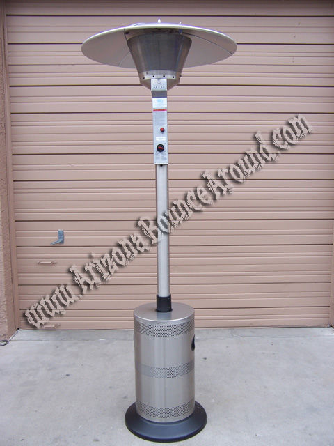 The radiant heat produced will warm an area 12' to 20' in diameter.  Completely self contained, no electrical connections needed and can be  delivered right ... - Propane Patio Heater Rentals Scottsdale, Phoenix, Tempe, Mesa, AZ