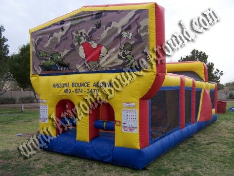 30' CYT Army Camo Obstacle Course Rental