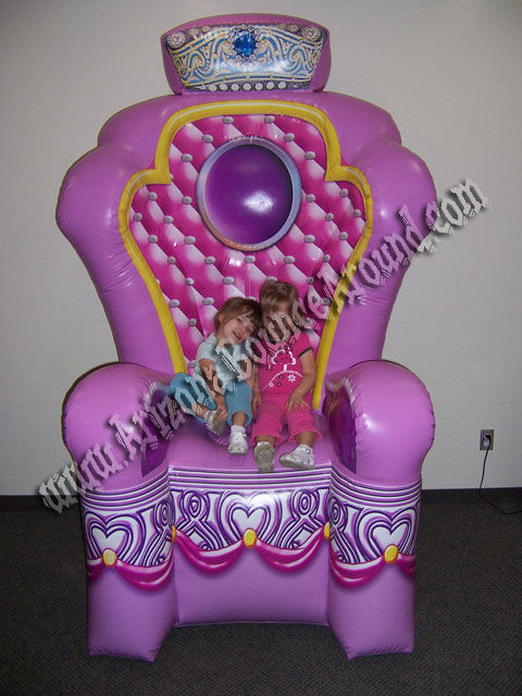 Sealed Air Inflatable Princess Throne Rental