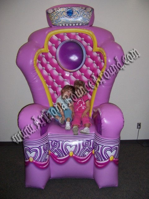 Sealed Air Inflatable Princess Throne chair rental Phoenix Scottsdale Az