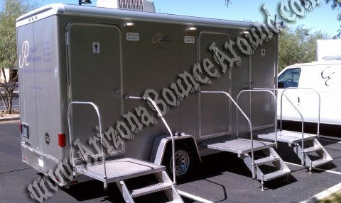 2 Stall Climate Controlled Portable Restroom Rentals