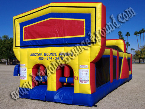 30' Long Choose Your Theme Obstacle Course with Dual Steep Drop Slides
