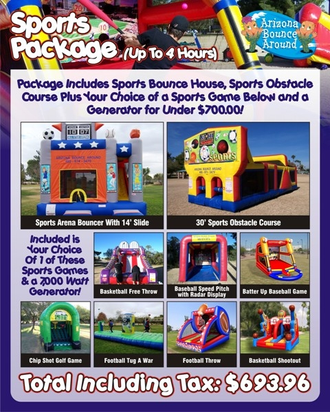 Sports Party Package under $700