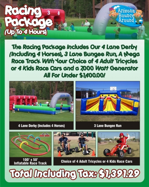 Racing Party Package $1,391.29