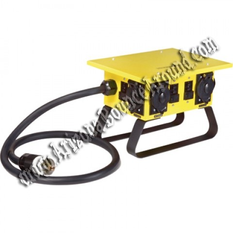 Temporary power distribution box rental