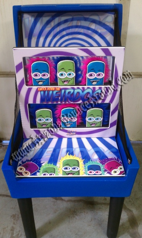 Weirdos Knock Down Carnival Game Rental
