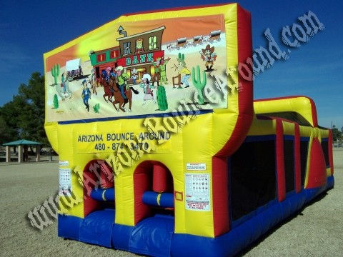 30' Western Themed Obstacle Course Rental