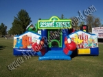 sesame street inflatable rental phoenix Scottsdale, sesame street bouncer rental, sesame street bouncy rental, sesame street jumpy rental, kids educational party rent
