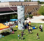 25' Climbing Rock Wall with 2 Person Bungee Trampoline combo Rentals in Phoenix, AZ