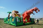 Jurassic Themed Inflatable Obstacle Course Rental Phoenix Arizona