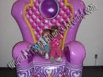 Princess Throne rental phoenix, Scottsdale az, Giant Princess Chair rental az