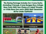 Racing games and activities for parties and events in Phoenix Arizona