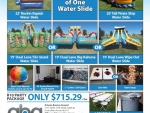 Water slide party packages around $700 in Phoenix Arizona